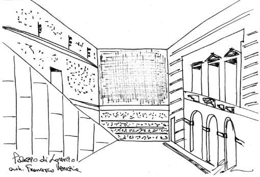 schizzo palazzo di lorenzo