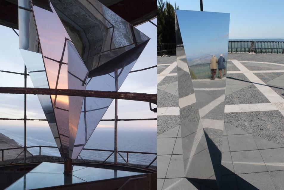 Installazione di strutture riflettenti – Best of Metal by Ron Arad