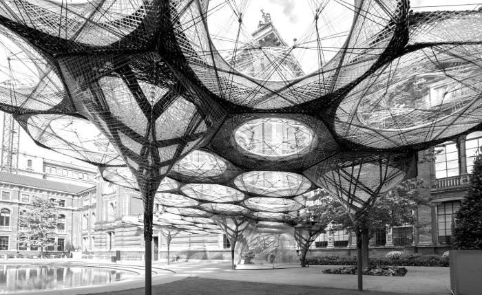 Sistemi biologici trasferiti all'architettura by Achim Menges e Jan Knippers
