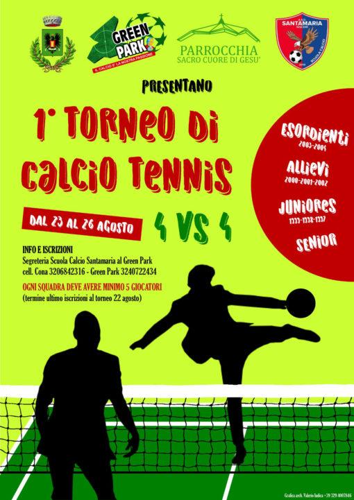 locandina calcio tennis