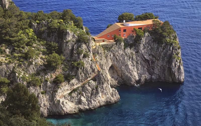 Villa Malaparte a Capri (Adalberto Libera) – misto di architettura moderna e classica