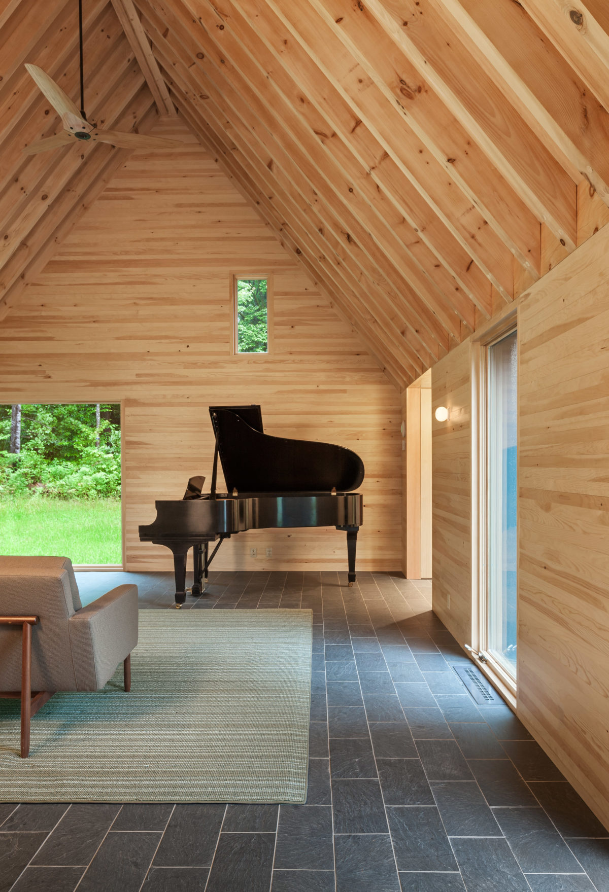 Cedar-clad cottages for classical musicians in Vermont by HGA Architects and Engineers