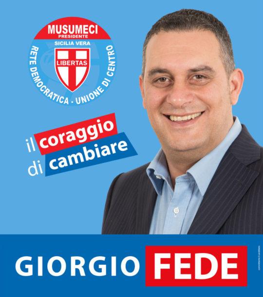 Elezioni Regionali Sicilia - Grafica Facsimile e Manifesto per il candidato Giorgio Fede