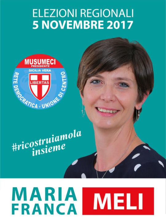 Elezioni Regionali Sicilia - Linea grafica e gestione pagina facebook per la candidata Maria Franca Meli