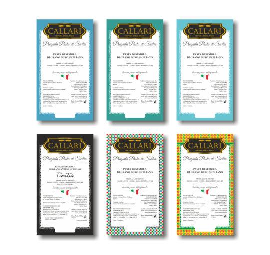 Nuove etichette pasta e farina Callari